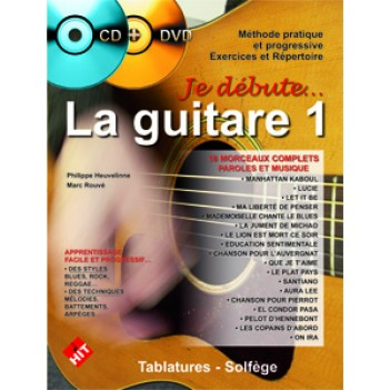 Je débute la guitare + CD et DVD